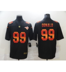 Men's Los Angeles Rams #99 Aaron Donald Black colorful Nike Limited Jersey