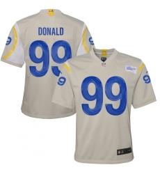 Youth Los Angeles Rams #99 Aaron Donald White Nike Bone Game Jersey.webp