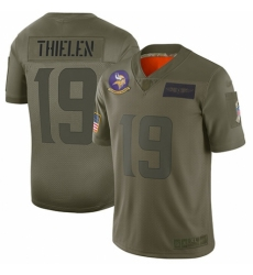 Women's Minnesota Vikings #19 Adam Thielen Limited Camo 2019 Salute to Service Football Jersey