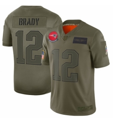 Men's New England Patriots #12 Tom Brady Limited Camo 2019 Salute to Service Football Jersey