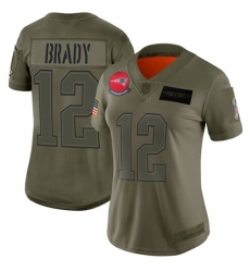 Women's New England Patriots #12 Tom Brady Limited Camo 2019 Salute to Service Football Jersey