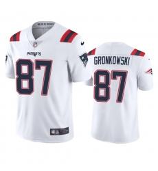 Nike New England Patriots #87 Rob Gronkowski Men's White 2020 Vapor Limited Jersey