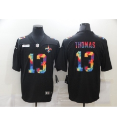Men's New Orleans Saints #13 Michael Thomas Rainbow Version Nike Limited Jersey