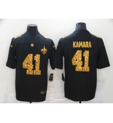 Men's New Orleans Saints #41 Alvin Kamara Black Nike Leopard Print Limited Jersey