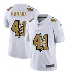 Men's New Orleans Saints #41 Alvin Kamara White Nike White Shadow Edition Limited Jersey