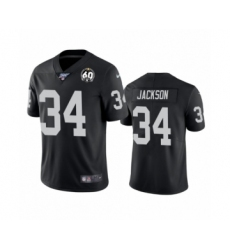 Youth Oakland Raiders #34 Bo Jackson Black 60th Anniversary Vapor Untouchable Limited Player 100th Season Football Jersey