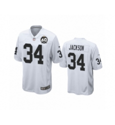 Youth Oakland Raiders #34 Bo Jackson Game 60th Anniversary White Football Jersey