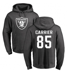 NFL Nike Oakland Raiders #85 Derek Carrier Ash One Color Pullover Hoodie