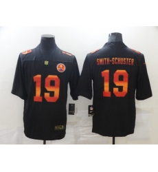 Men's Pittsburgh Steelers #19 JuJu Smith-Schuster Black colorful Nike Limited Jersey