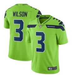 Youth Nike Seattle Seahawks #3 Russell Wilson Limited Green Rush Vapor Untouchable NFL Jersey