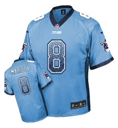 Men's Nike Tennessee Titans #8 Marcus Mariota Elite Light Blue Drift Fashion NFL Jersey