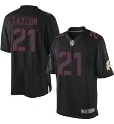 Men's Nike Washington Redskins #21 Sean Taylor Limited Black Impact NFL Jersey