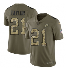 Men's Nike Washington Redskins #21 Sean Taylor Limited Olive/Camo 2017 Salute to Service NFL Jersey