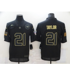 Men's Washington Redskins #21 Sean Taylor Black Nike 2020 Salute To Service Limited Jersey