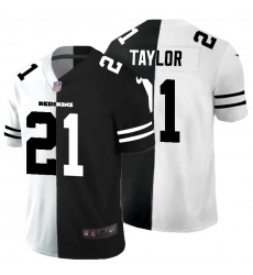 Men's Washington Redskins #21 Sean Taylor Black White Limited Split Fashion Football Jersey