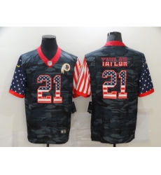 Men's Washington Redskins #21 Sean Taylor Camo Flag Nike Limited Jersey