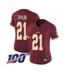 Women's Washington Redskins #21 Sean Taylor Burgundy Red Team Color Vapor Untouchable Limited Player 100th Season Football Jersey