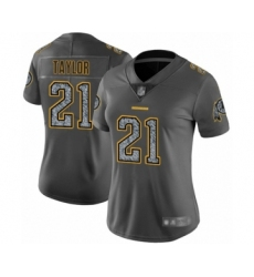 Women's Washington Redskins #21 Sean Taylor Limited Gray Static Fashion Football Jersey