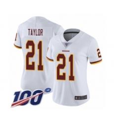 Women's Washington Redskins #21 Sean Taylor White Vapor Untouchable Limited Player 100th Season Football Jersey
