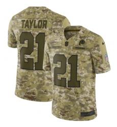 Youth Nike Washington Redskins #21 Sean Taylor Limited Camo 2018 Salute to Service NFL Jersey