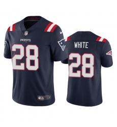 Nike New England Patriots #28 James White Men's Navy 2020 Vapor Limited Jersey