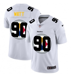 Men's Pittsburgh Steelers #90 T. J. Watt White Nike White Shadow Edition Limited Jersey