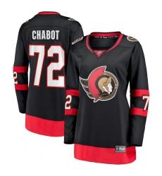 Women's Ottawa Senators #72 Thomas Chabot Fanatics Branded Black 2020-21 Home Premier Breakaway Player Jersey