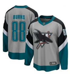 Men's San Jose Sharks #88 Brent Burns Fanatics Branded Gray 2020-21 Special Edition Breakaway Player Jersey