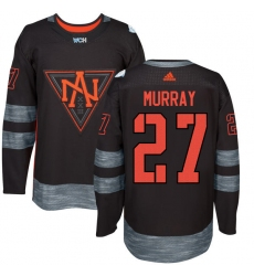Men's Adidas Team North America #27 Ryan Murray Premier Black Away 2016 World Cup of Hockey Jersey