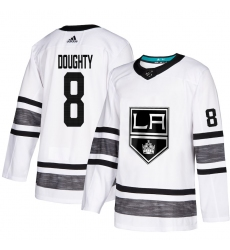 Men's Adidas Los Angeles Kings #8 Drew Doughty White 2019 All-Star Game Parley Authentic Stitched NHL Jersey