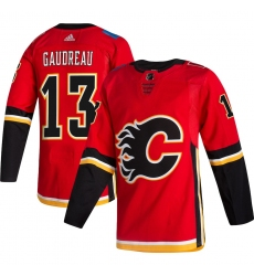 Men's Calgary Flames #13 Johnny Gaudreau adidas Red 2020-21 Alternate Authentic Player Jersey