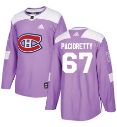 Youth Adidas Montreal Canadiens #67 Max Pacioretty Authentic Purple Fights Cancer Practice NHL Jersey