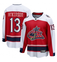 Men's Columbus Blue Jackets #13 Cam Atkinson Fanatics Branded Red 2020-21 Special Edition Breakaway Player Jersey