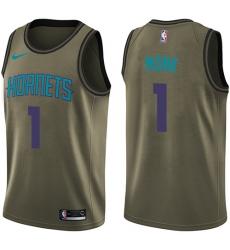 Youth Nike Charlotte Hornets #1 Malik Monk Swingman Green Salute to Service NBA Jersey