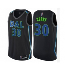 Men's Dallas Mavericks #30 Seth Curry Authentic Black Basketball Jersey - City Edition