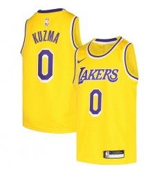 Youth Los Angeles Lakers #0 Kyle Kuzma Nike Gold 2020-21 Swingman Jersey