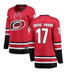 Women's Carolina Hurricanes #17 Rod Brind'Amour Fanatics Branded Red Home Breakaway NHL Jersey