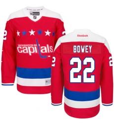 Women's Reebok Washington Capitals #22 Madison Bowey Authentic Red Third NHL Jersey
