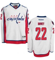 Women's Reebok Washington Capitals #22 Madison Bowey Authentic White Away NHL Jersey