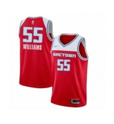 Men's Sacramento Kings #55 Jason Williams Swingman Red Basketball Jersey - 2019 20 City Edition