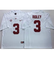 Alabama Crimson Tide 3 Calvin Ridley White Nike College Football Jersey