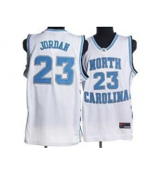 North Carolina #23 Michael Jordan White Embroidered NCAA Jersey