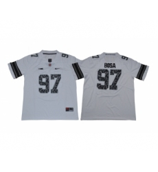 Ohio State Buckeyes 97 Nick Bosa White College Football Jersey