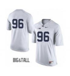 Men Penn State Nittany Lions #96 White Jersey