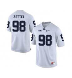 Penn State Nittany Lions 98 Anthony Zettel White College Football Jersey