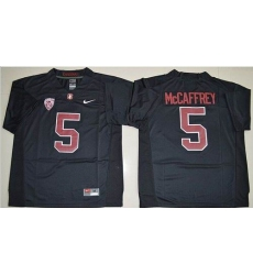 Stanford Cardinal #5 Christian McCaffrey Black Stitched NCAA Jersey