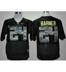 Oregon Ducks 24# Kenjon Barner Black Pac-12 College Football NCAA Jerseys