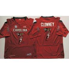 South Carolina Fighting Gamecocks #7 Jadeveon Clowney Red Player Fashion Stitched NCAA Jersey