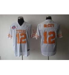 NCAA Texas Longhorns #12 Colt McCoy WHITE Jersey