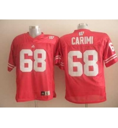 Badgers #68 Gabe Carimi Red Embroidered NCAA Jersey